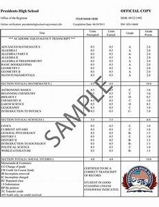 28 images of official high school transcript template With official transcript template