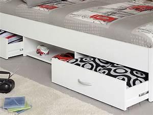 Jugendbett 90x200 Mit Bettkasten : jugendbett leader 1 1 90x200 wei lattenrost matratze bettkasten kaufen bei vbbv gmbh ~ Whattoseeinmadrid.com Haus und Dekorationen