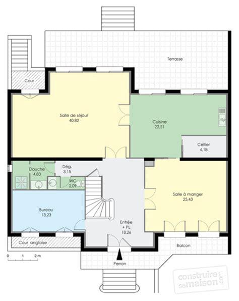 bureau 2 personnes maison familiale 6 dé du plan de maison familiale 6