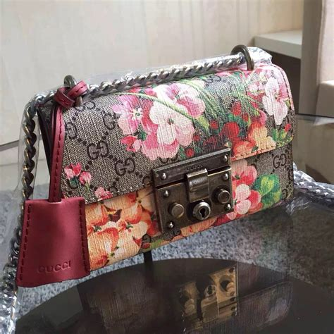 gucci padlock blooms shoulder bag replica high quality gucci replica handbags