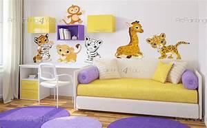 Wandtattoo Tiere Kinderzimmer : wandtattoo wandsticker kinderzimmer safari tiere ~ Watch28wear.com Haus und Dekorationen