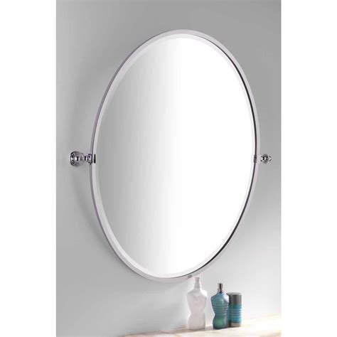 Framed Oval Bathroom Mirror by Handmade Bathroom Oval Framed Tilting Mirror