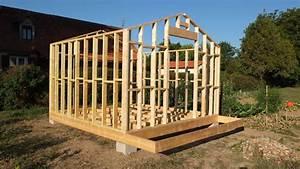 autoconstruction abri de jardin ou chalet en ossature bois With plan de maison facade 12 mise en fabrication de la verriare