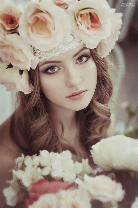 flower maiden fantasy women flowers  art fashion