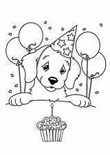 Coloring Birthday Pages Cupcake Puppy Happy Printable Colouring Sheets Print Cake Dog Cards Frank Lisa Sheet Printables Disney Momjunction Toddler sketch template