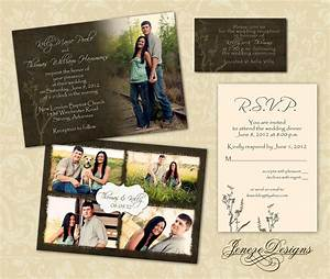 Wedding invitation template photographers and photoshop for Wedding invitations designs in photoshop
