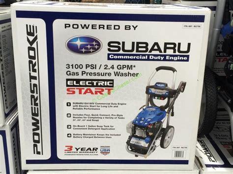 Powerstroke 3100 Psi Pressure Washer W/ Subaru Electric
