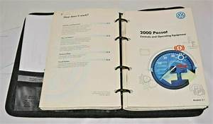 2000 Volkswagen Passat Owners Manual Guide Book Set With
