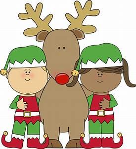Christmas Girl Elf Clipart
