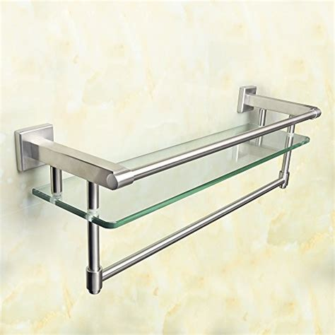 Glass Bathroom Shelves With Towel Rack by 10 Top Products In Bathroom Shelves April 2018