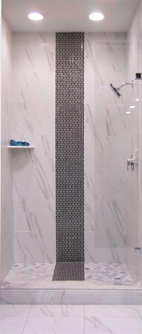 glass strip mosaic   shower thetileshop