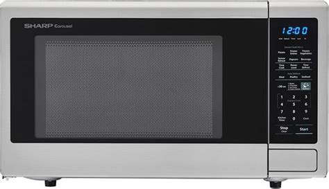 sharp carousel countertop microwave oven stainless steel smccs spencers tv appliances