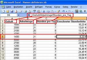 Excel Formeln Automatisch Berechnen : excel anleitung namen f r zellen spalten zeilen und bereiche vergeben mit namen rechnen ~ Themetempest.com Abrechnung
