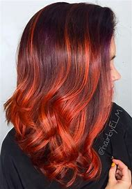 Auburn Hair Color with Copper Highlights