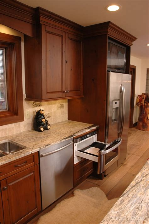 rustic traditional kitchen maineville