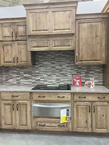 lowes schuler cabinetry knotty alder cappuccino kitchens With kitchen cabinets lowes with papiers peints rayures