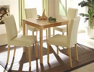 Esstisch Stühle Beige : essgruppe kernbuche tisch pavel 75x75cm 4 st hle ivett beige wohnbereiche esszimmer tischgruppen ~ Markanthonyermac.com Haus und Dekorationen