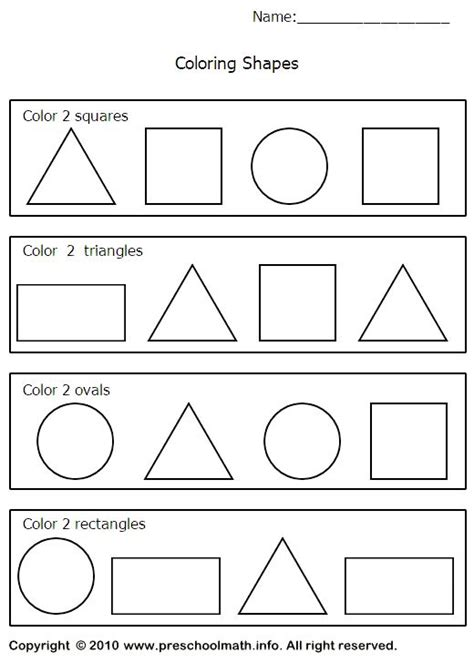 triangle worksheets preschool shapes worksheets for for