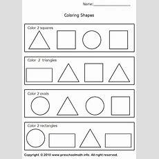 Triangle Worksheets Preschool  Shapes Worksheets For For Preschool, Kindergarten, First Grade