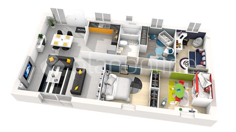 plan maison plain pied 4 chambres maison alya 100 essentielle