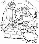 Jesus Coloring Pages Birth Story Manger Bible Born Christmas Printable Colouring Drawing Sheet Nativity Template Tocolor Preschool Mary Christian Getcolorings sketch template