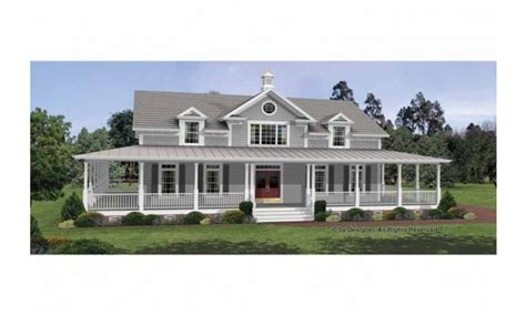 colonial house plans  wrap  porches country