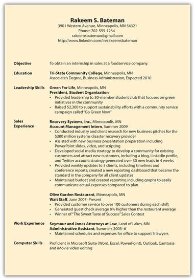 exle resume resume format subheadings