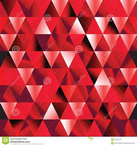 abstract ruby seamless triangle pattern stock vector