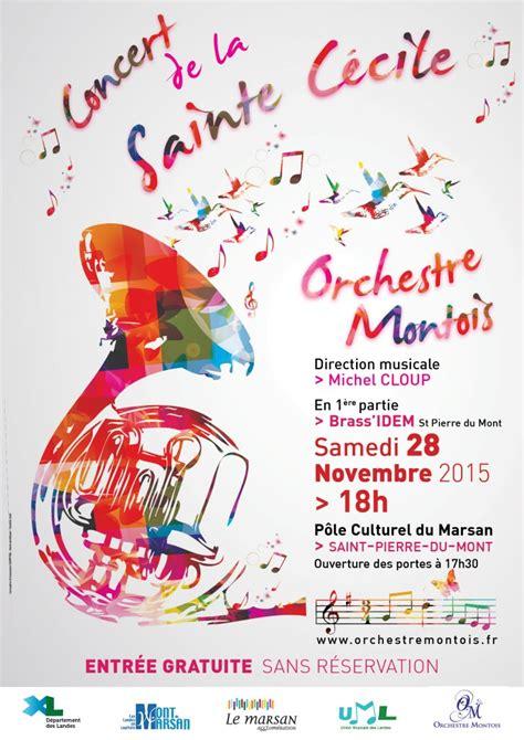 bureau de poste mont de marsan affiche du concert de sainte cécile 2015 orchestre