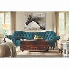 Home Decorators Collection Arden Peacock Polyester Sofa