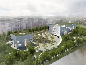 斯蒂文·霍尔建筑师事务所揭幕上海项目——云状的文化和健康中心规划   ArchDaily
