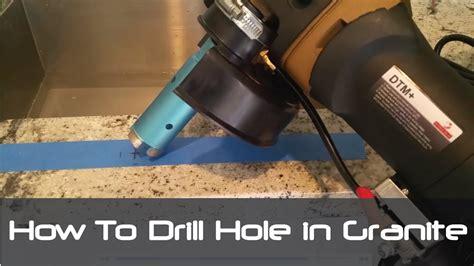 drill granite countertop how to drill in granite concrete countertops tiles