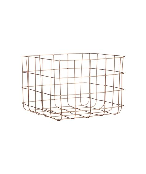 copper wire storage basket 6 closet organizers real simple