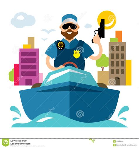 Boat Rescue Cartoon by Cruise Rescue Boat Cartoons Illustrations Vector Stock