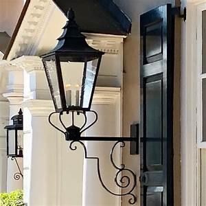Mcleanlightingworks, St, Petersburg, Lantern, Mounted, On, Iron, Scroll, Bracket, Wdcdesign