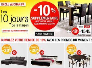 auchan code promo meubles et literie