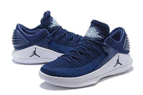 New Air Jordan 32 Low Midnight Navywhite Mens Basketball