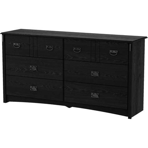 south shore 6 drawer dresser black south shore 6 drawer tryon dresser black oak walmart