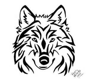 Tribal Wolf Head Tattoo
