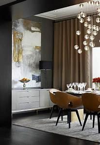 Rideaux Salle à Manger : peinture salle a manger couleur gris anthracite rideaux lin ~ Teatrodelosmanantiales.com Idées de Décoration