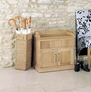 Buy Baumhaus Mobel Oak Shoe Bench With Hidden Storage