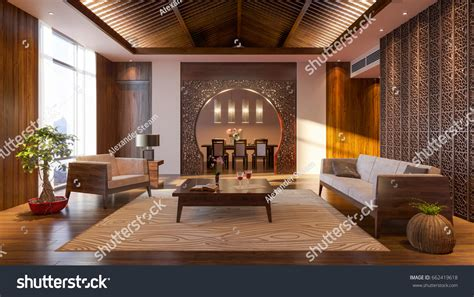 Japanese Living Room Interior Design Adorable And