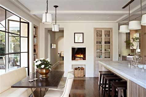 fireplace in kitchen luxury homes interior design california style home