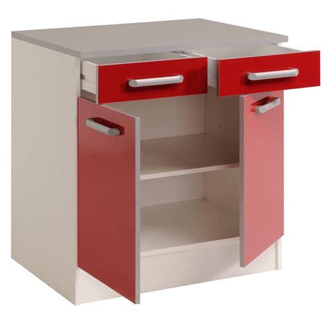 photo de meuble de cuisine meuble bas de cuisine contemporain 80 cm 2 portes 2