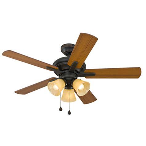 harbor breeze fan downrod shop harbor breeze lansing 42 in oil rubbed bronze indoor