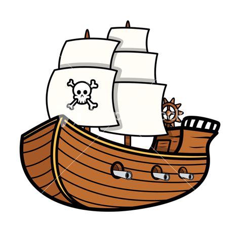 Ship Cartoon by Pirate Ship Vector Stock Image