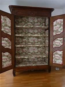 meuble toile de jouy With comment tapisser un meuble