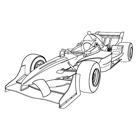 Kleurplaat Raceauto by Formule 1 Racewagens Kleurplaten Kleurplatenpagina Nl