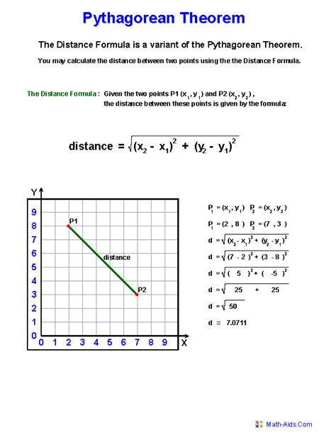 Pythagorean Theorem Worksheets  Practicing Pythagorean Theorem Worksheets