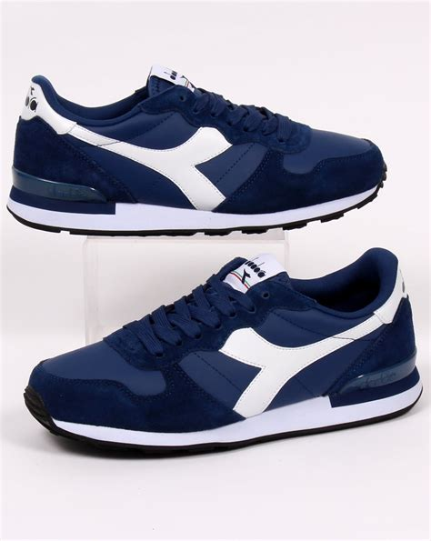 Diadora Camaro Leather Trainers Navy/white, Men's, Runners ...